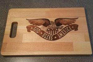 God Bless America Wood Burned Cutting Board