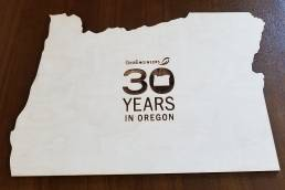 30 Years in Oregon Table Sign